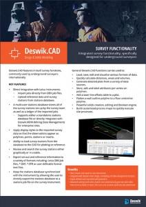Deswik-CAD-survey-functionality